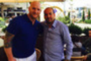 John Hartson bumps into former West Ham United team-mate Eyal...